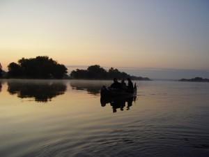 Morgentliche Ruhe auf der Oder